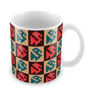 Taza con Diseño Chancay vista isometrica