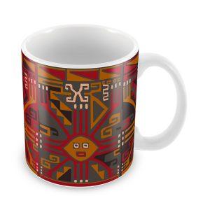 Taza con Diseño Nazca vista isométrica