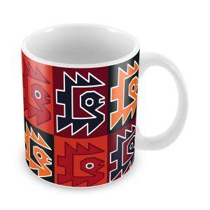 Taza con diseño Paracas vista isométrica